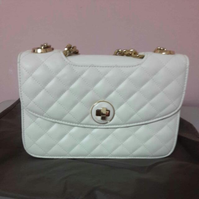 [Repriced] Charles & Keith White Sling Bag