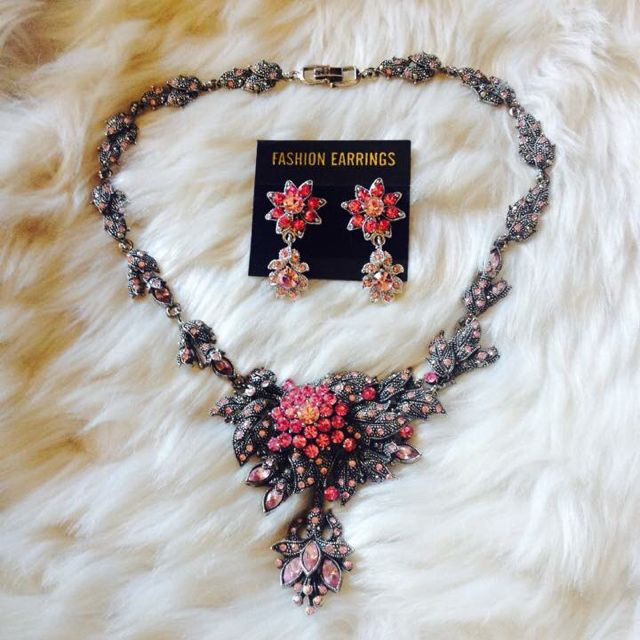 Earring And Necklace Set made In Korean