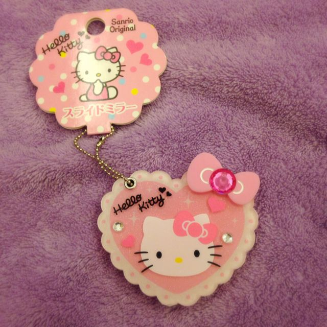 Hello Kitty鑰匙圈、小鏡子