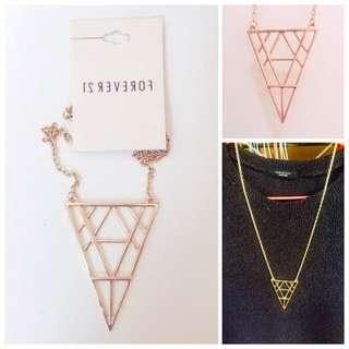 Forever21✨金三角造型鍊