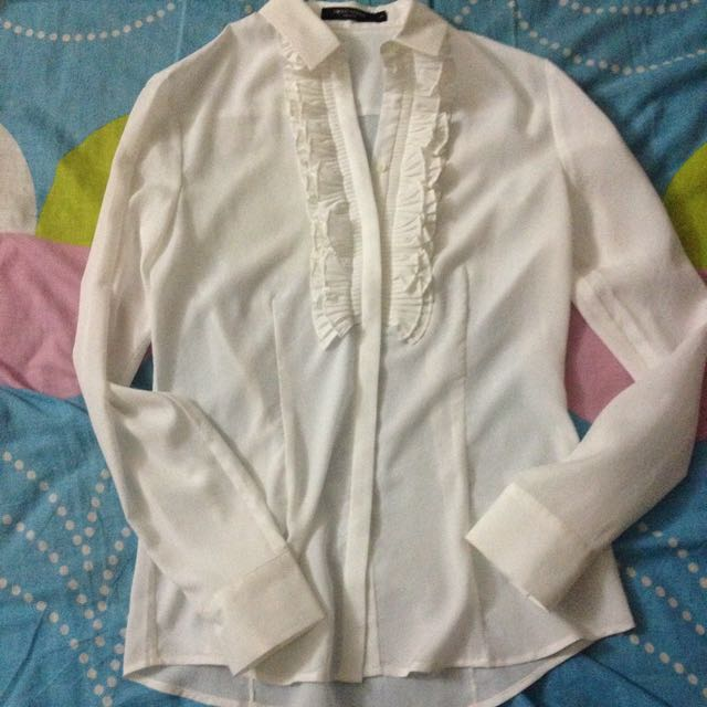 G2000 White Chiffon Work Blouse