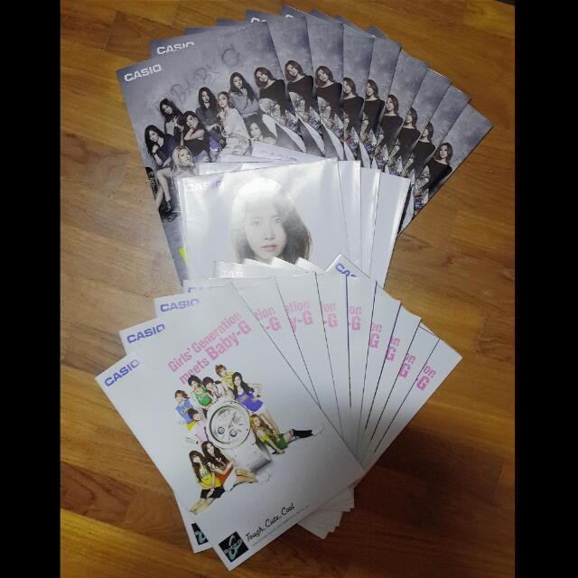 Girls Generation SNSD Baby-G Casio Brochure Poster