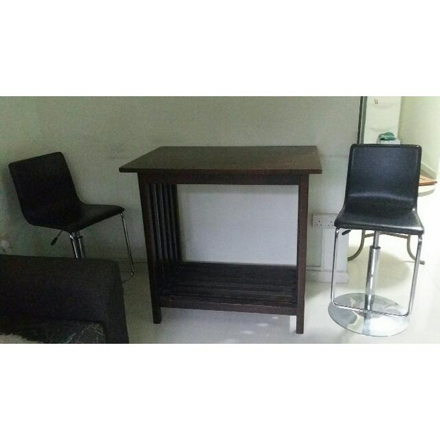 Wooden Table & 2 Chairs