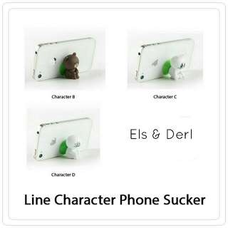 Line Character Phone Sucker