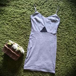 Simple Casual Grey Dress