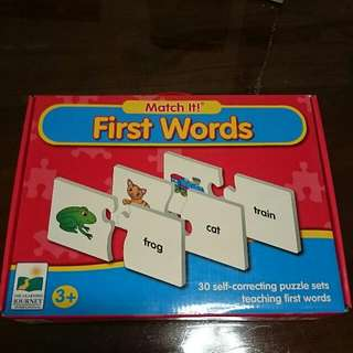 Puzzle Game Match Words (Children 3+)
