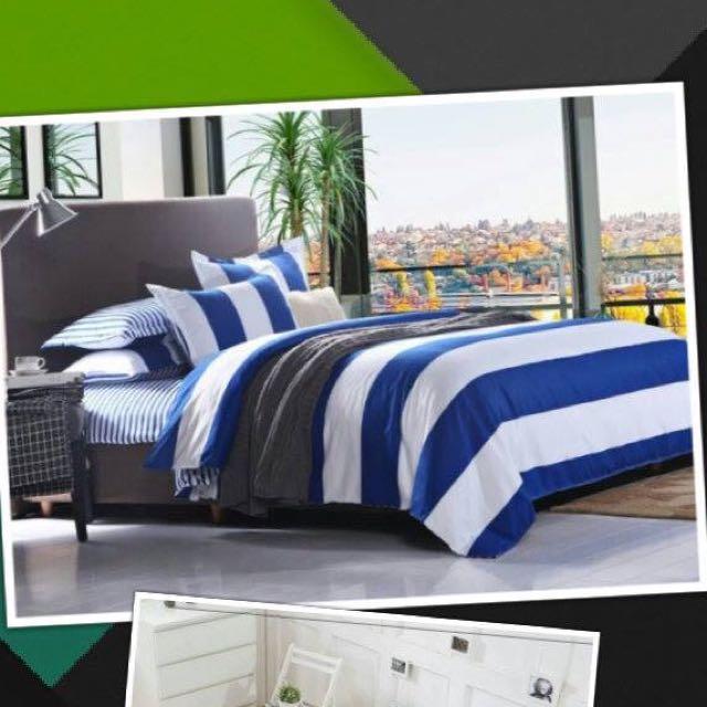 2015春款條紋經典款4件套床單組  現貨-1