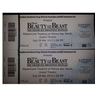 Beauty and the Beast Musical // 29 MAR 1PM