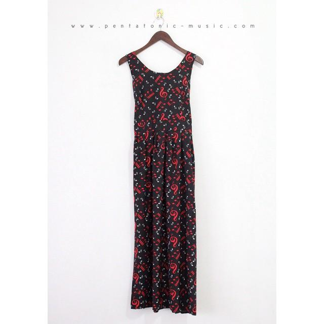 Cantata Maxi Dress - Black Red