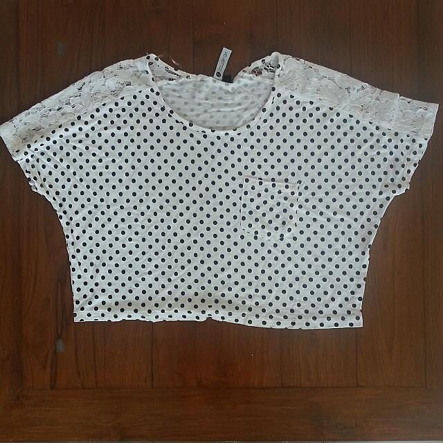 Cotton On Polkadot Crop Top