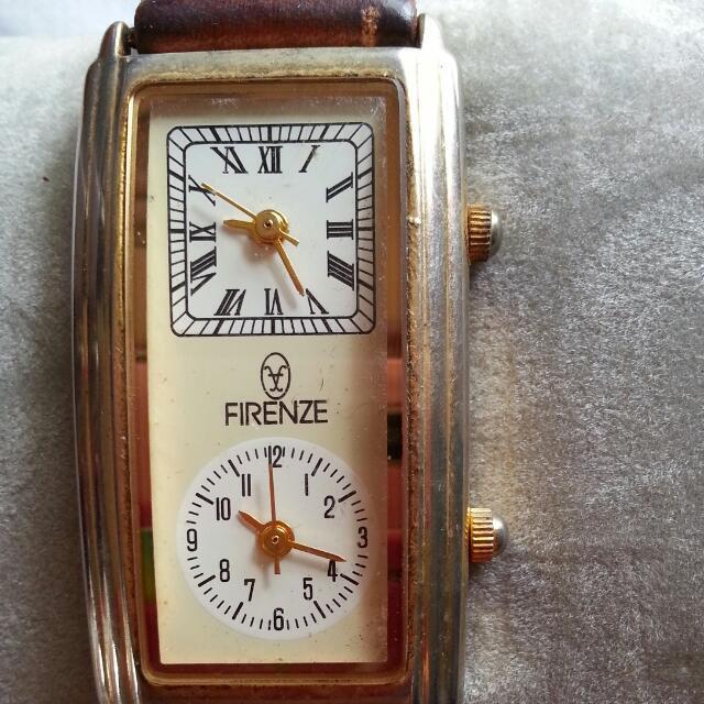 出清降價~FIRENZE雙時針錶
