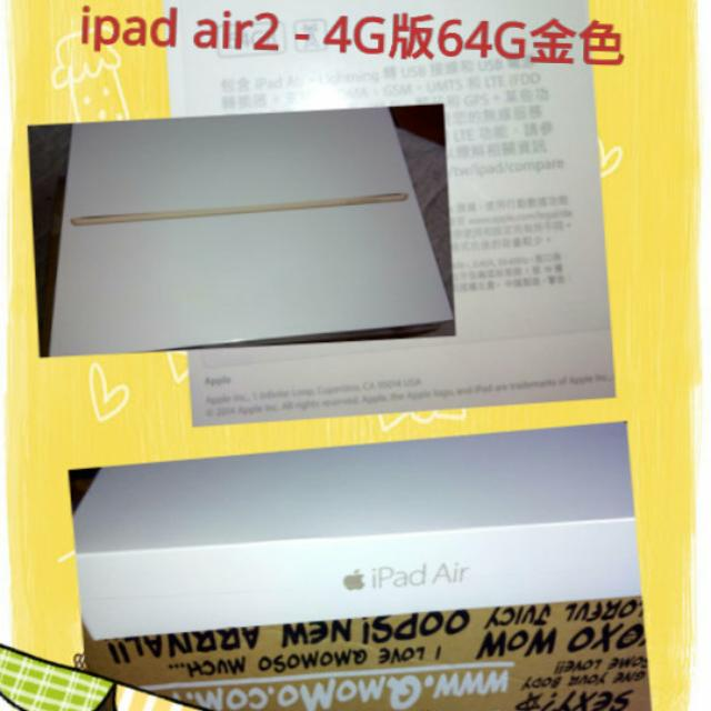 Ipad Air 2 64GB 4g Wifi版