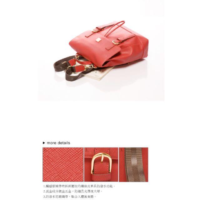 全新✨Kinaz 紅色後背包