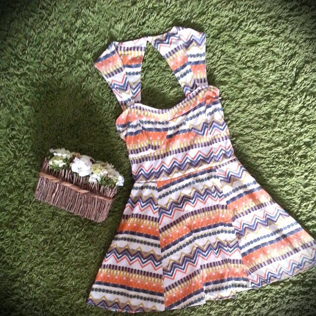 Orange Tribal Dress