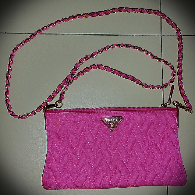 5c905d5dd95a PRADA Tessuto Impuntu Nylon Quilted Sling bag