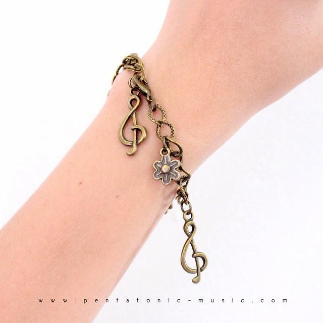 Treble Flower Bronze Bracelet