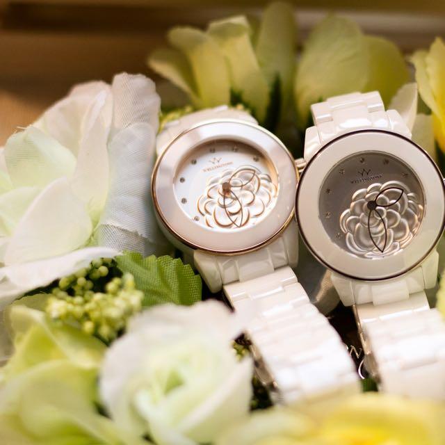 雕花全陶瓷錶