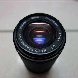 Vivitar 70-210mm/4.5-5.6 for Pentax傳統相機(PK A/R接頭