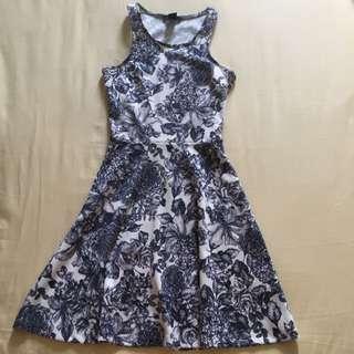 H&m Blue Floral Dress