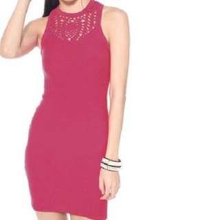 Lb Crochet Knit Dress (black) Size M