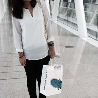 EDITOR'S MARKET White Crepe Blouse [PENDING TO @LIMINTOH]
