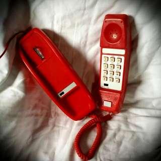 Vintage Red Retro Telephone