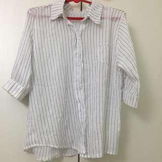 全新 正韓棉襯衫