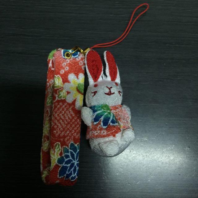 <全新>日本京都帶回小兔吊飾