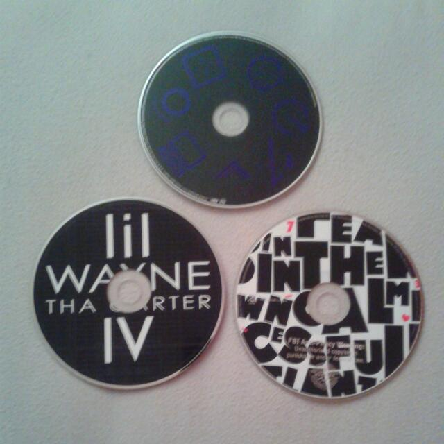 Chris Brown, Lil Wayne, Drake cds
