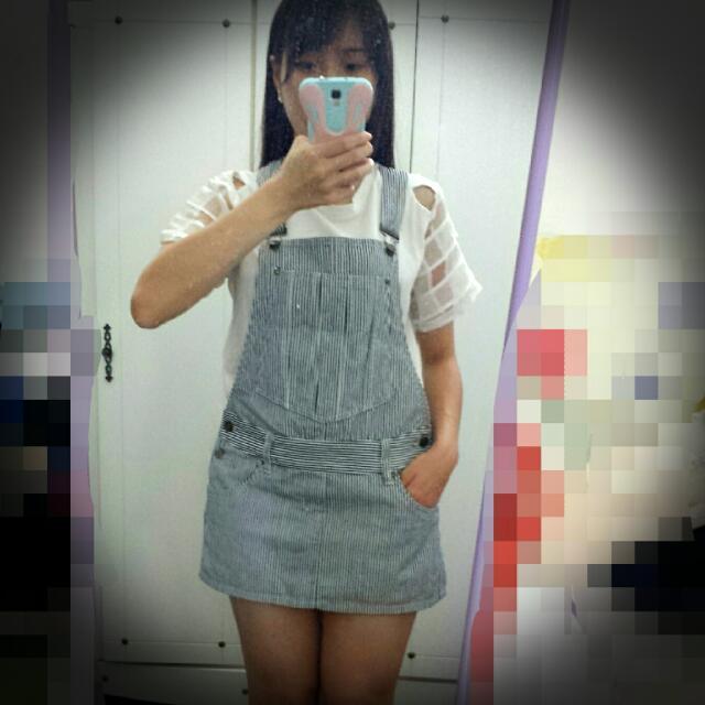 [Reduced ] Denim sling skirt