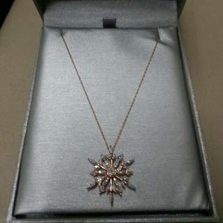 Rose Gold Snowflake Necklace