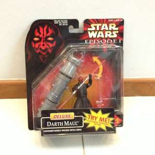Star Wars The Phantom Menace Deluxe Darth Maul EP1 MOSC. What you see is what you get.