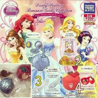 迪士尼公主系列扭蛋 轉蛋(四個一起不拆售)