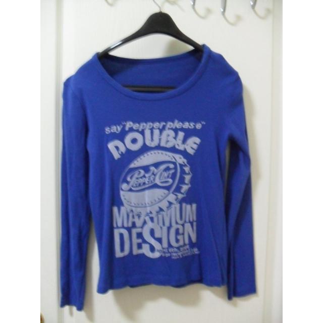 美式風格 寶藍色 正藍色美國塗鴉風格上衣