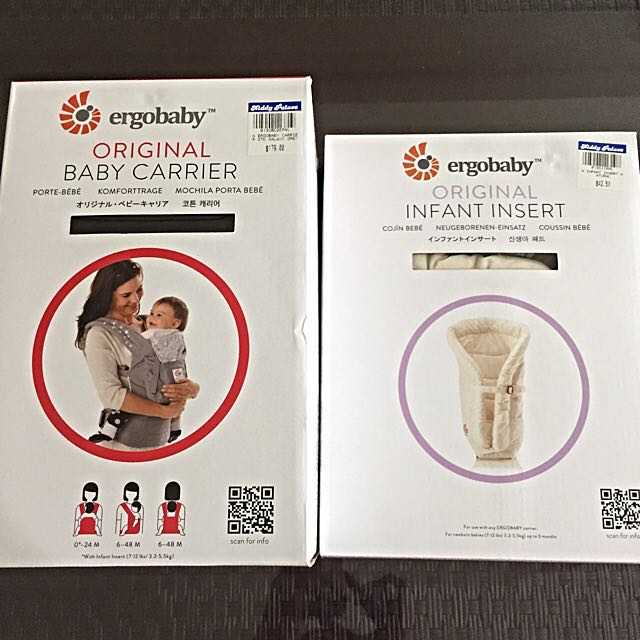 Ergobaby Carrier Include Infant Insert (Pre-loved)