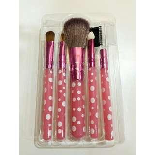 Makeup Travel Brush Set Pink 5 Piece