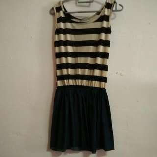 Stripes X Denim Dress