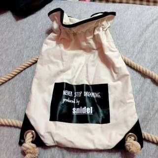 束口帆布後背包
