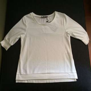 BNWT Zalora Basic Side Split Tee