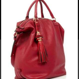 DVF Rustin Farm Drew Bucket Tote Leather Bag (Preowned)