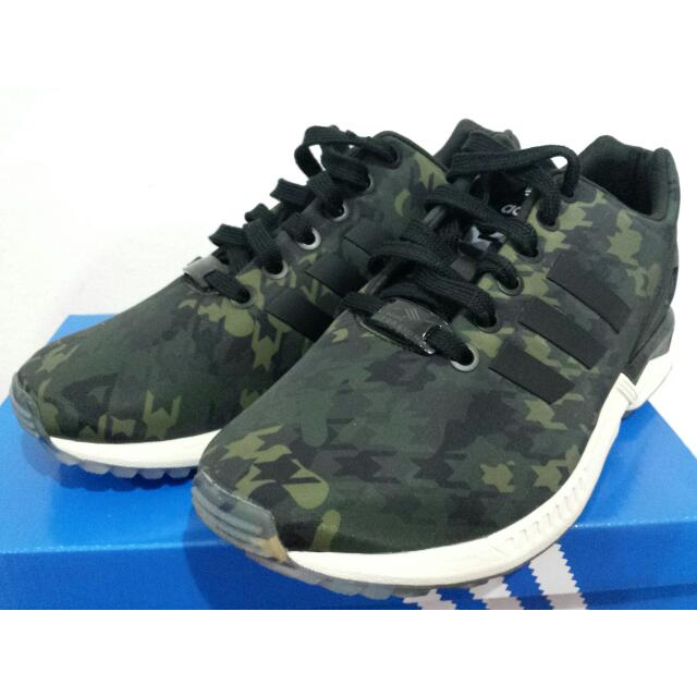 separation shoes b87d3 f4d31 Adidas Zx Flux (camo), Women s Fashion on Carousell