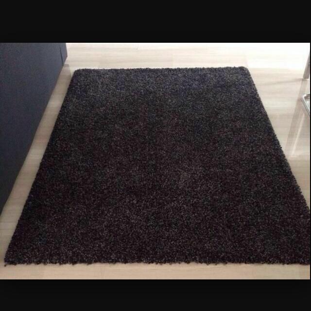 Lowered Price!!] IKEA ALHEDE RUG (Black