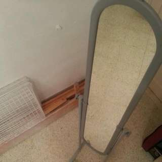 MOVING OUT SALE: Used full length mirror with rollers