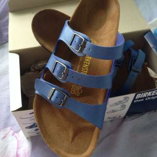 BNIB Birkenstock Florida. Ice Pearl Opal Colour. Apparent Too Big. Size 42. Price Negotiable.