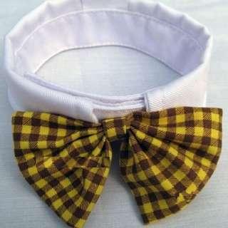 *On Sale* Pet Bow Tie Collar - Yellow