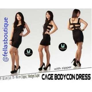 cage bodycon dress