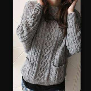 Brand New Grey Knitted Sweater