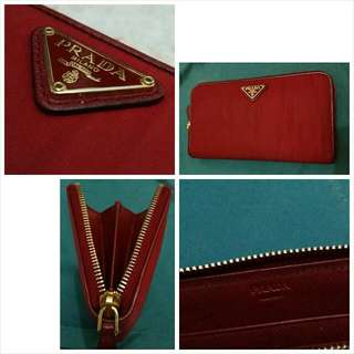 Used Authentic Prada Long Wallet
