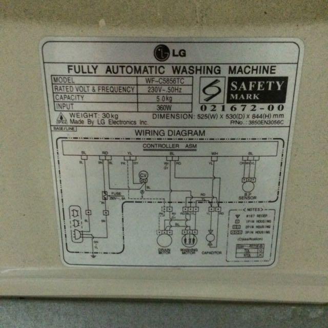 Lg Washing Machine Wiring Diagram