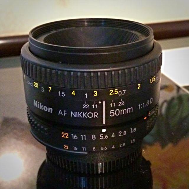 Nikon 50mm and F1.8D